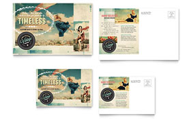 Vintage Clothing - Postcard Template
