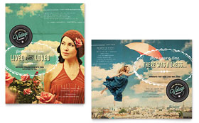 Vintage Clothing - Poster Template Design Sample