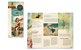 Vintage Clothing - Tri Fold Brochure Template Design Sample