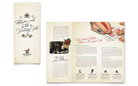 Body Art & Tattoo Artist - Tri Fold Brochure Sample Template