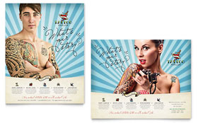 Body Art & Tattoo Artist - Poster Template