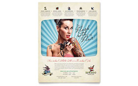 Body Art & Tattoo Artist - Flyer Template Design Sample