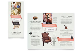 Antique Mall - Apple iWork Pages Brochure Template
