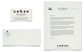 Antique Mall - Business Card & Letterhead Template