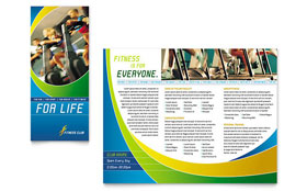 Sports & Health Club - Brochure Template Design Sample