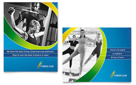 Sports & Health Club - Poster Template Design Sample