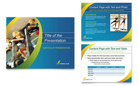 Sports & Health Club - PowerPoint Presentation Template Design Sample