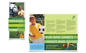 Soccer Sports Camp - Tri Fold Brochure Template