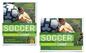 Soccer Sports Camp - Poster Template Design Sample