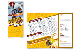 Football Sports Camp - Brochure Template Design Sample