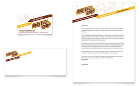Football Sports Camp - Business Card & Letterhead Template