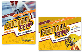 Football Sports Camp - Poster Template Design Sample