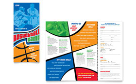 Basketball Sports Camp - Print Design Brochure Template