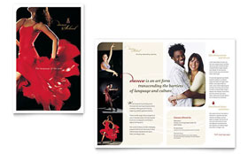 Dance School - Brochure Template Design Sample