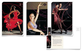 Dance School - Postcard Template Design Sample