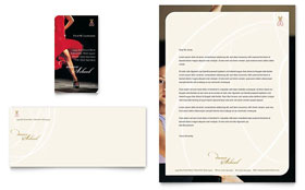 Dance School - Business Card & Letterhead Template Design Sample