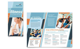 Health & Fitness Gym - CorelDRAW Brochure Template