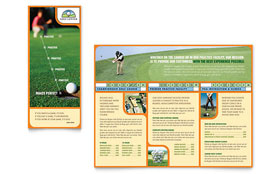 Golf Instructor & Course - Brochure Template Design Sample