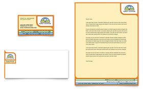 Golf Instructor & Course - Business Card & Letterhead Template Design Sample