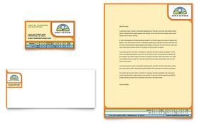 Golf Instructor & Course - Business Card & Letterhead Template