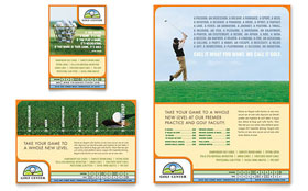 Golf Instructor & Course - Flyer & Ad Template Design Sample