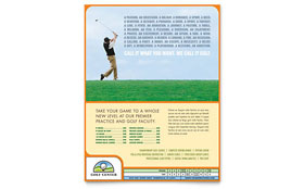 Golf Instructor & Course - Flyer Template Design Sample