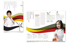 Karate & Martial Arts - Microsoft Word Brochure Template