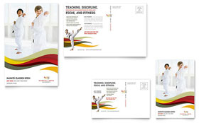 Karate & Martial Arts - Postcard Template