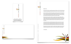 Karate & Martial Arts - Business Card & Letterhead Template Design Sample
