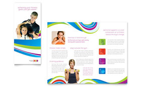 Personal Trainer - Microsoft Word Brochure Template