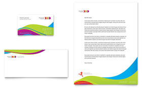Personal Trainer - Business Card & Letterhead Template Design Sample