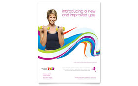 Personal Trainer - Flyer Template Design Sample