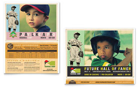 Baseball Sports Camp - Poster Template Design Sample