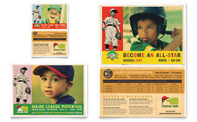 Baseball Sports Camp - Flyer & Ad