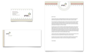 Pilates & Yoga - Business Card & Letterhead Template Design Sample