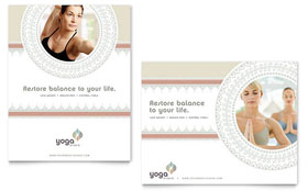 Pilates & Yoga - Poster Template Design Sample