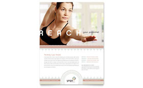Pilates & Yoga - Flyer Template Design Sample