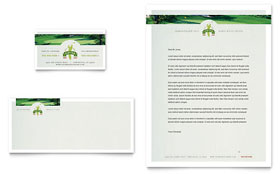 Golf Course & Instruction - Business Card & Letterhead Template