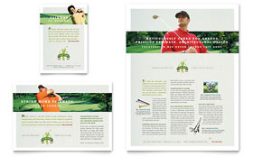 Golf Course & Instruction - Flyer & Ad Template Design Sample