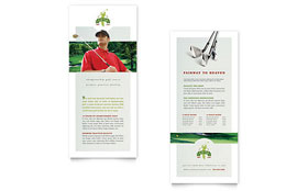 Golf Course & Instruction - Rack Card