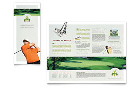 Golf Course & Instruction - Graphic Design Tri Fold Brochure Template