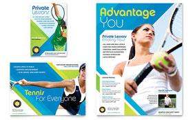 Tennis Club & Camp - Print Ad Template
