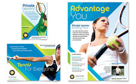 Tennis Club & Camp - Print Ad Sample Template