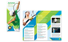 Tennis Club & Camp - Microsoft Word Tri Fold Brochure Template