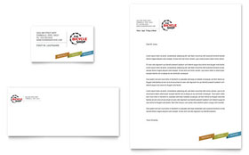 Bike Rentals & Mountain Biking - Business Card & Letterhead Template