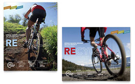 Bike Rentals & Mountain Biking - Poster Template Design Sample
