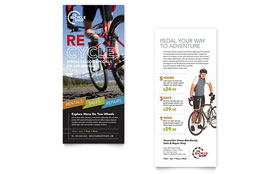 Bike Rentals & Mountain Biking - Rack Card Template Design Sample