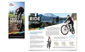 Bike Rentals & Mountain Biking - Adobe InDesign Tri Fold Brochure