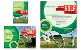 Golf Tournament - Flyer & Ad Template