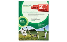 Golf Tournament - Flyer Template Design Sample